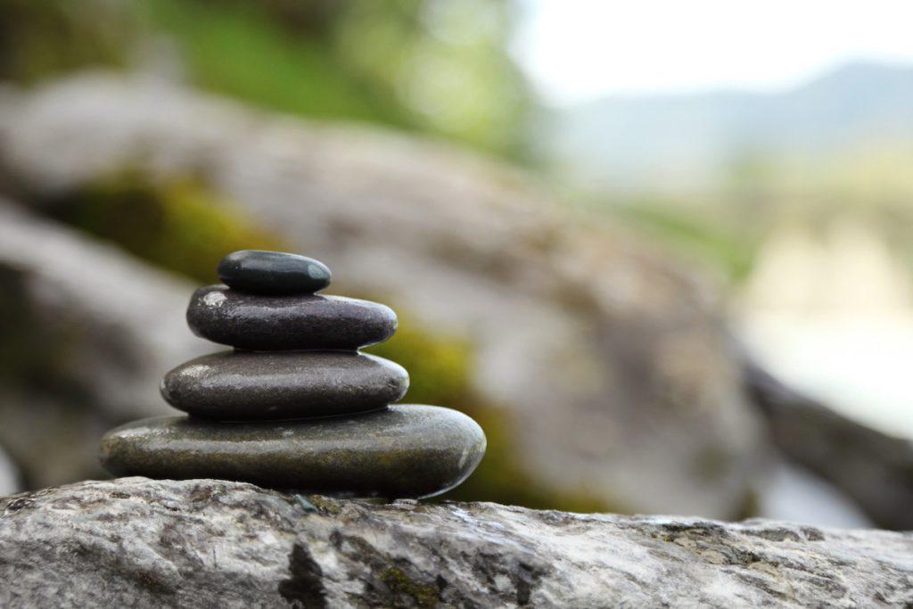 De twee beuken stenen stapel
